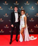 1 November 2019; Kilkenny hurler Hugh Lawlor and Niamh de Brún upon arrival at the PwC All-Stars 2019 at the Convention Centre in Dublin. Photo by David Fitzgerald/Sportsfile