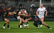 1 November 2019; Marcell Coetzee of Ulster is tackled by George Biagi of Zebre during the Guinness PRO14 Round 5 match between Ulster and Zebre at the Kingspan Stadium in Belfast. Photo by John Dickson/Sportsfile
