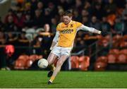 2 November 2019; Conor McManus of Clontibret O'Neills scoring a point during the Ulster GAA Football Senior Club Championship Quarter-Final match between Crossmaglen Rangers and Clontibret O'Neills at Athletic Grounds in Armagh. Photo by Oliver McVeigh/Sportsfile