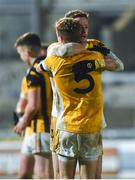 2 November 2019; Conor McManus, left, and Jack Gormley of Clontibret O'Neills embrace after the Ulster GAA Football Senior Club Championship Quarter-Final match between Crossmaglen Rangers and Clontibret O'Neills at Athletic Grounds in Armagh. Photo by Oliver McVeigh/Sportsfile