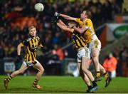 2 November 2019; Conor Boyle of Clontibret O'Neills in action against Oisin O'Neill of Crossmaglen Rangers during the Ulster GAA Football Senior Club Championship Quarter-Final match between Crossmaglen Rangers and Clontibret O'Neills at Athletic Grounds in Armagh. Photo by Oliver McVeigh/Sportsfile