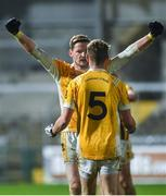 2 November 2019; Conor McManus, left, and Jack Gormley of Clontibret O'Neills celebrates after the Ulster GAA Football Senior Club Championship Quarter-Final match between Crossmaglen Rangers and Clontibret O'Neills at Athletic Grounds in Armagh. Photo by Oliver McVeigh/Sportsfile