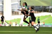 3 November 2019; Edel Kennedy of Wexford Youths in action against Niamh Farrelly of Peamount United during the Só Hotels FAI Women's Cup Final between Wexford Youths and Peamount United at the Aviva Stadium in Dublin. Photo by Ben McShane/Sportsfile