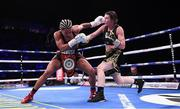 2 November 2019; Katie Taylor, right, and Christina Linardatou during their WBO Women's Super-Lightweight World title fight at the Manchester Arena in Manchester, England. Photo by Stephen McCarthy/Sportsfile