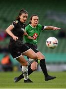 3 November 2019; Lauren Dwyer of Wexford Youths and Áine O'Gorman of Peamount United during the Só Hotels FAI Women's Cup Final between Wexford Youths and Peamount United at the Aviva Stadium in Dublin. Photo by Stephen McCarthy/Sportsfile