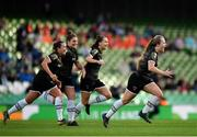 3 November 2019; Lauren Kelly of Wexford Youths, right, celebrates with team-mates after scoring his side's second goal during the Só Hotels FAI Women's Cup Final between Wexford Youths and Peamount United at the Aviva Stadium in Dublin. Photo by Seb Daly/Sportsfile