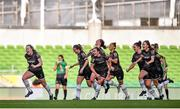 3 November 2019; Lauren Kelly of Wexford Youths, far left, celebrates with team-mates after scoring her side's second goal during the Só Hotels FAI Women's Cup Final between Wexford Youths and Peamount United at the Aviva Stadium in Dublin. Photo by Ben McShane/Sportsfile