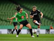 3 November 2019; Edel Kennedy of Wexford Youths in action against Niamh Farrelly of Peamount United during the Só Hotels FAI Women's Cup Final between Wexford Youths and Peamount United at the Aviva Stadium in Dublin. Photo by Seb Daly/Sportsfile