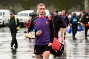 3 November 2019; Pauric Mahony of Ballygunner arrives for the AIB Munster GAA Hurling Senior Club Championship Quarter-Final match between Sixmilebridge and Ballygunner at Sixmilebridge in Clare. Photo by Diarmuid Greene/Sportsfile