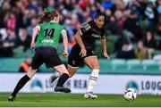 3 November 2019; Rianna Jarrett of Wexford Youths skips past Claire Walsh of Peamount United during the Só Hotels FAI Women's Cup Final between Wexford Youths and Peamount United at the Aviva Stadium in Dublin. Photo by Ben McShane/Sportsfile