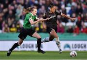 3 November 2019; Rianna Jarrett of Wexford Youths in action against Claire Walsh of Peamount United during the Só Hotels FAI Women's Cup Final between Wexford Youths and Peamount United at the Aviva Stadium in Dublin. Photo by Ben McShane/Sportsfile