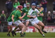 3 November 2019; Brian Cody of Ballyhale Shamrocks in action against Kelvin Reilly, left, and Kelvin Reilly of Clonkill during the AIB Leinster GAA Hurling Senior Club Championship Quarter-Final match between Clonkill and Ballyhale Shamrocks at TEG Cusack Park in Mullingar, Westmeath. Photo by Ramsey Cardy/Sportsfile