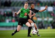 3 November 2019; Rianna Jarrett of Wexford Youths and Claire Walsh of Peamount United during the Só Hotels FAI Women's Cup Final between Wexford Youths and Peamount United at the Aviva Stadium in Dublin. Photo by Stephen McCarthy/Sportsfile