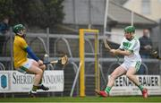 3 November 2019; Eoin Cody of Ballyhale Shamrocks scores his side's second goal past Clonkill goalkeeper Andrew Mitchell during the AIB Leinster GAA Hurling Senior Club Championship Quarter-Final match between Clonkill and Ballyhale Shamrocks at TEG Cusack Park in Mullingar, Westmeath. Photo by Ramsey Cardy/Sportsfile