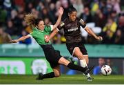 3 November 2019; Rianna Jarrett of Wexford Youths in action against Louise Corrigan of Peamount United during the Só Hotels FAI Women's Cup Final between Wexford Youths and Peamount United at the Aviva Stadium in Dublin. Photo by Ben McShane/Sportsfile