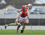 3 November 2019; David Treacey of Cuala in action against Jack Kavanagh of St Mullins during the AIB Leinster GAA Hurling Senior Club Championship Quarter-Final between St Mullins and Cuala at Netwatch Cullen Park in Carlow. Photo by Matt Browne/Sportsfile