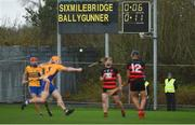 3 November 2019; A general view of the scoreboard during the first half of the AIB Munster GAA Hurling Senior Club Championship Quarter-Final match between Sixmilebridge and Ballygunner at Sixmilebridge in Clare. Photo by Diarmuid Greene/Sportsfile