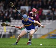 3 November 2019; James Quigley of Kiladangan in action against Willie Connors of Kiladangan during the Tipperary County Senior Club Hurling Championship Final match between  Borris-Ileigh and Kiladangan at Semple Stadium in Thurles, Tipperary. Photo by Ray McManus/Sportsfile