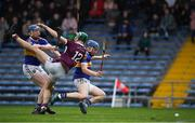 3 November 2019; Conor Kenny of Borris-Ileigh in action against Darren Moran, left, and James Quigley of Kiladangan during the Tipperary County Senior Club Hurling Championship Final match between  Borris-Ileigh and Kiladangan at Semple Stadium in Thurles, Tipperary. Photo by Ray McManus/Sportsfile