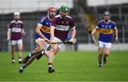 3 November 2019; James 'JD' Devaney of Borris-Ileigh in action against Declan McGrath of Kiladangan during the Tipperary County Senior Club Hurling Championship Final match between  Borris-Ileigh and Kiladangan at Semple Stadium in Thurles, Tipperary. Photo by Ray McManus/Sportsfile