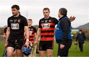 3 November 2019; Ballygunner joint captain Philip Mahony with joint manager Darragh O'Sullivan after the AIB Munster GAA Hurling Senior Club Championship Quarter-Final match between Sixmilebridge and Ballygunner at Sixmilebridge in Clare. Photo by Diarmuid Greene/Sportsfile