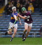 3 November 2019; James 'JD' Devaney of Borris-Ileigh, under pressure from Jack Loughnane of Kiladangan, on his way to score a goal, in the 28th minute, during the Tipperary County Senior Club Hurling Championship Final match between  Borris-Ileigh and Kiladangan at Semple Stadium in Thurles, Tipperary. Photo by Ray McManus/Sportsfile