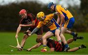 3 November 2019; Billy O'Keeffe, left, and Ian Kenny of Ballygunner in action against Jason Loughnane, left, and Cathal Lynch of Sixmilebridge during the AIB Munster GAA Hurling Senior Club Championship Quarter-Final match between Sixmilebridge and Ballygunner at Sixmilebridge in Clare. Photo by Diarmuid Greene/Sportsfile