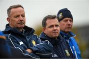 3 November 2019; Sixmilebridge manager Tim Crowe, left, coach Davy Fitzgerald, centre, and selector Paddy Meehan, right, during the AIB Munster GAA Hurling Senior Club Championship Quarter-Final match between Sixmilebridge and Ballygunner at Sixmilebridge in Clare. Photo by Diarmuid Greene/Sportsfile