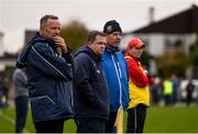 3 November 2019; Sixmilebridge manager Tim Crowe, coach Davy Fitzgerald, selector Paddy Meehan, and assistant coach Seoirse Bulfin during the AIB Munster GAA Hurling Senior Club Championship Quarter-Final match between Sixmilebridge and Ballygunner at Sixmilebridge in Clare. Photo by Diarmuid Greene/Sportsfile
