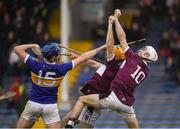 3 November 2019; Kieran Maher, 10, and Seamus Burke of Borris-Ileigh in action against Billy Seymour of Kiladangan during the Tipperary County Senior Club Hurling Championship Final match between  Borris-Ileigh and Kiladangan at Semple Stadium in Thurles, Tipperary. Photo by Ray McManus/Sportsfile