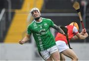 3 November 2019; James Doyle of St Mullins celebrates after scoring a goal during the AIB Leinster GAA Hurling Senior Club Championship Quarter-Final between St Mullins and Cuala at Netwatch Cullen Park in Carlow. Photo by Matt Browne/Sportsfile