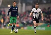 3 November 2019; Graham Burke of Shamrock Rovers in action against Seán Hoare of Dundalk during the extra.ie FAI Cup Final between Dundalk and Shamrock Rovers at the Aviva Stadium in Dublin. Photo by Ben McShane/Sportsfile