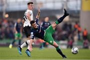 3 November 2019; Aaron Greene of Shamrock Rovers is fouled by Daniel Cleary of Dundalk during the extra.ie FAI Cup Final between Dundalk and Shamrock Rovers at the Aviva Stadium in Dublin. Photo by Ben McShane/Sportsfile