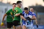 3 November 2019; Colm Basquel of Ballyboden St Enda's in action against Brian Kirby of Thomas Davis during the Dublin County Senior Club Football Championship Final match between Thomas Davis and Ballyboden St Enda's at Parnell Park in Dublin. Photo by Brendan Moran/Sportsfile