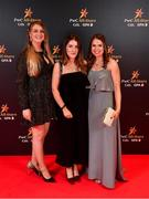 1 November 2019; Amber Martin, Agnes Moynihan and Ciara Baratwanath upon arrival at the PwC All-Stars 2019 at the Convention Centre in Dublin. Photo by David Fitzgerald/Sportsfile