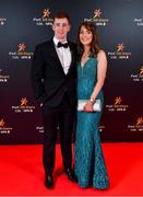 1 November 2019; John Patton and Rebecca Fletcher upon arrival at the PwC All-Stars 2019 at the Convention Centre in Dublin. Photo by David Fitzgerald/Sportsfile