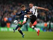 3 November 2019; Ronan Finn of Shamrock Rovers in action against Robbie Benson of Dundalk during the extra.ie FAI Cup Final between Dundalk and Shamrock Rovers at the Aviva Stadium in Dublin. Photo by Seb Daly/Sportsfile