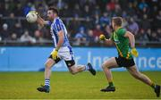 3 November 2019; Michael Darragh MacAuley of Ballyboden St Enda's in action against Cian Murphy of Thomas Davis during the Dublin County Senior Club Football Championship Final match between Thomas Davis and Ballyboden St Enda's at Parnell Park in Dublin. Photo by Brendan Moran/Sportsfile