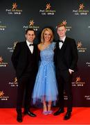 1 November 2019; Fergal Rafter, Niamh Boyle and Colin Merrick upon arrival at the PwC All-Stars 2019 at the Convention Centre in Dublin. Photo by David Fitzgerald/Sportsfile