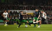 3 November 2019; Seán Murray of Dundalk has a shot on goal during the extra.ie FAI Cup Final between Dundalk and Shamrock Rovers at the Aviva Stadium in Dublin. Photo by Stephen McCarthy/Sportsfile