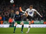 3 November 2019; Seán Gannon of Dundalk in action against Gary O'Neill of Shamrock Rovers during the extra.ie FAI Cup Final between Dundalk and Shamrock Rovers at the Aviva Stadium in Dublin. Photo by Seb Daly/Sportsfile