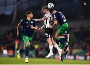 3 November 2019; Seán Murray of Dundalk in action against Lee Grace, left, and Roberto Lopes of Shamrock Rovers during the extra.ie FAI Cup Final between Dundalk and Shamrock Rovers at the Aviva Stadium in Dublin. Photo by Ben McShane/Sportsfile