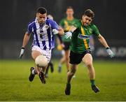 3 November 2019; Ross McGarry of Ballyboden St Enda's in action against Aaron Shorten of Thomas Davis during the Dublin County Senior Club Football Championship Final match between Thomas Davis and Ballyboden St Enda's at Parnell Park in Dublin. Photo by Brendan Moran/Sportsfile