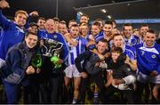 3 November 2019; Ballyboden St Enda's players and officials celebrate with the cup after the Dublin County Senior Club Football Championship Final match between Thomas Davis and Ballyboden St Enda's at Parnell Park in Dublin. Photo by Brendan Moran/Sportsfile