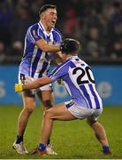3 November 2019; Colm Basquel of Ballyboden St Enda's celebrates with team-mate Tom Hayes at the final whistle of the Dublin County Senior Club Football Championship Final match between Thomas Davis and Ballyboden St Enda's at Parnell Park in Dublin. Photo by Brendan Moran/Sportsfile