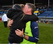 3 November 2019; Borris-Ileigh manager Johnny Kelly is congratulated by his daughter Alanah after the Tipperary County Senior Club Hurling Championship Final match between  Borris-Ileigh and Kiladangan at Semple Stadium in Thurles, Tipperary. Photo by Ray McManus/Sportsfile