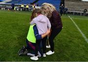 3 November 2019; Borris-Ileigh manager Johnny Kelly is congratulated by his daughters Alanah and Rhona, and his wife Sinead after the Tipperary County Senior Club Hurling Championship Final match between  Borris-Ileigh and Kiladangan at Semple Stadium in Thurles, Tipperary. Photo by Ray McManus/Sportsfile