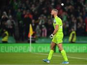 3 November 2019; Alan Mannus of Shamrock Rovers reacts after a missed penalty by Michael Duffy of Dundalk during the extra.ie FAI Cup Final between Dundalk and Shamrock Rovers at the Aviva Stadium in Dublin. Photo by Seb Daly/Sportsfile