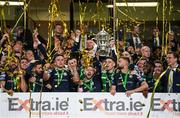 3 November 2019; Shamrock Rovers players celebrate as captain Ronan Finn lifts the FAI Challenge Cup following the extra.ie FAI Cup Final between Dundalk and Shamrock Rovers at the Aviva Stadium in Dublin. Photo by Stephen McCarthy/Sportsfile