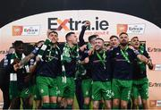 3 November 2019; Shamrock Rovers players celebrate following the extra.ie FAI Cup Final between Dundalk and Shamrock Rovers at the Aviva Stadium in Dublin. Photo by Stephen McCarthy/Sportsfile
